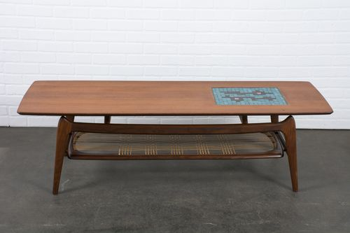 Vintage MidCentury Coffee Table With Tile Inlay By Louis Van - Coffee table with tile inlay
