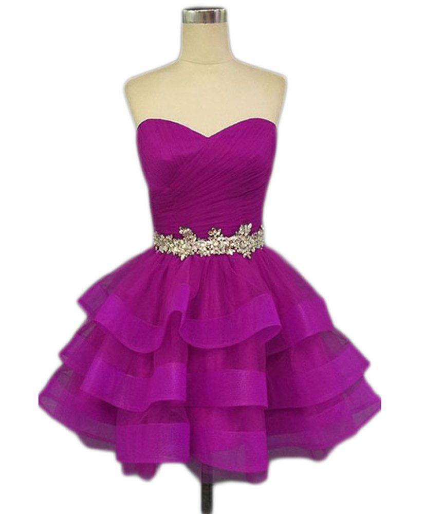 Simlehouse Womenus Sweetheart Tulle Short Homecoming Dresses