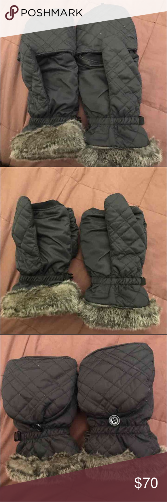 Eddie Bauer Down Convertible Mittens NEW without Tags. Convert Mittens to fingerless gloves. Eddie Bauer Accessories Gloves & Mittens
