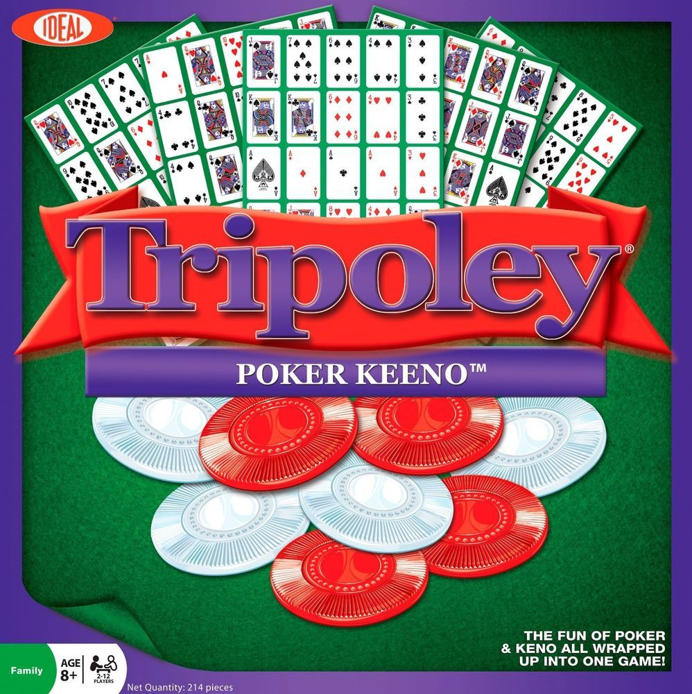 Tripoley Fun of Poker & Keeno in one Game by Ideal Family