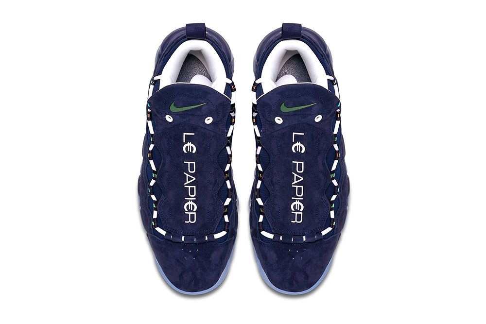 Nike Air More Money Global Currency Pack US dollar British pound French  Euro Release Date Purchase d0dc4f43d