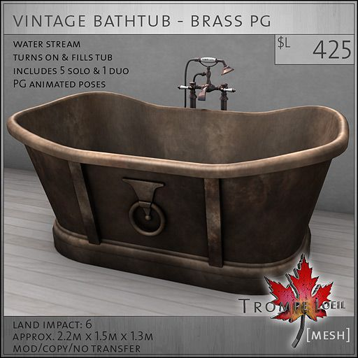 Charming Vintage Bathroom Pieces U2013 Fun And Functional For FaMESHed March 2013