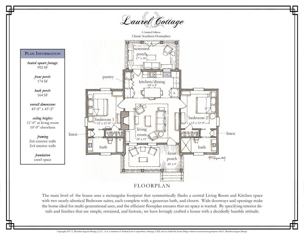 C Brandon Ingram Products Cottage Floor Plans Small Cottage House Plans Southern Cottage