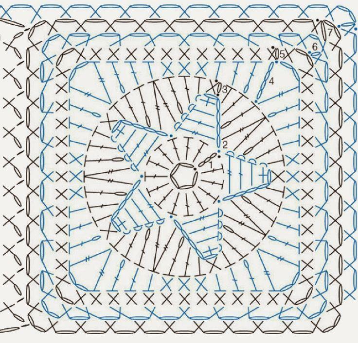 Чудо-крючок. Рукоделие | Crochet squares & motifs | Pinterest ...