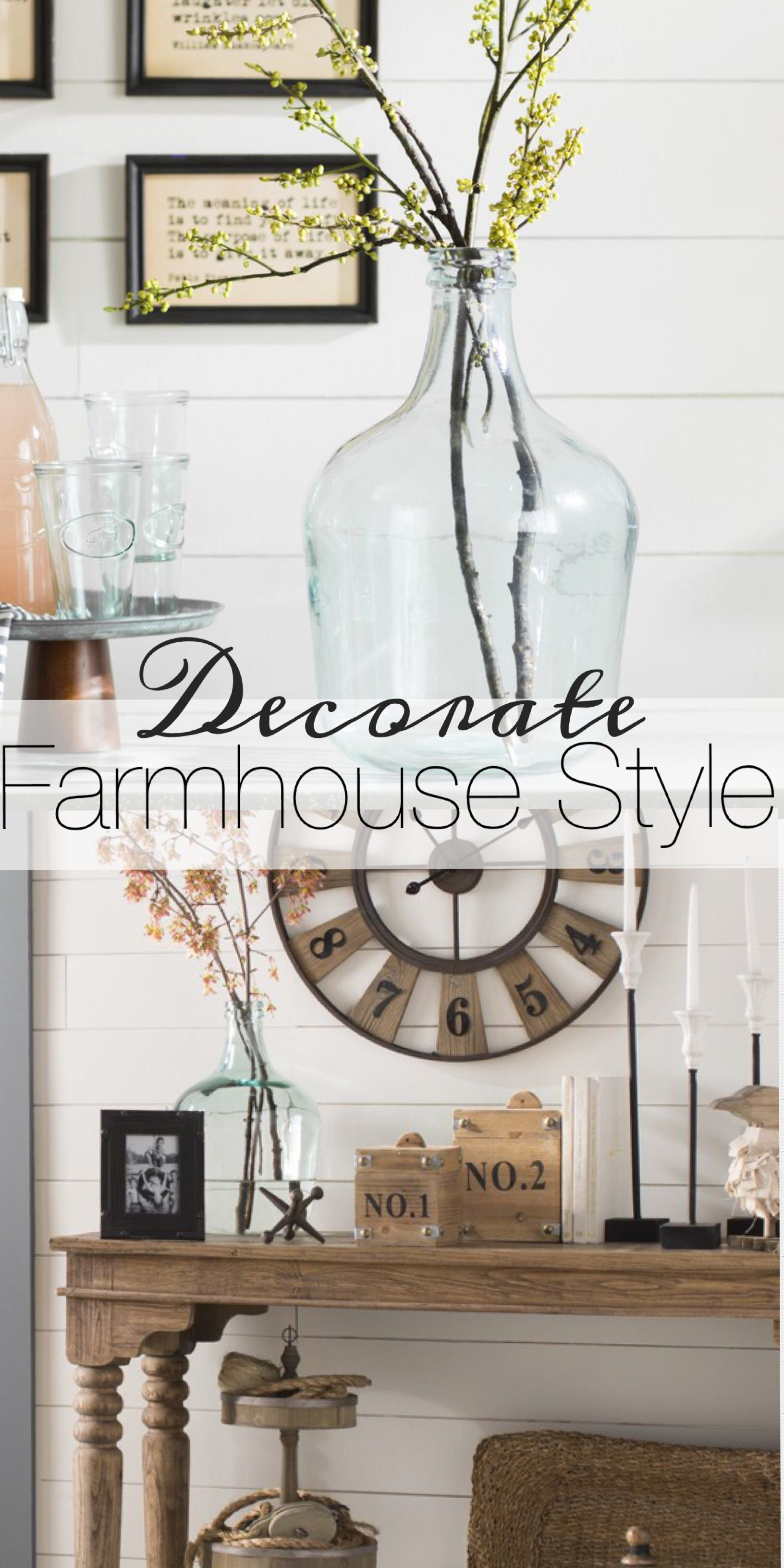 Decorate Farmhouse Style ad Love these big