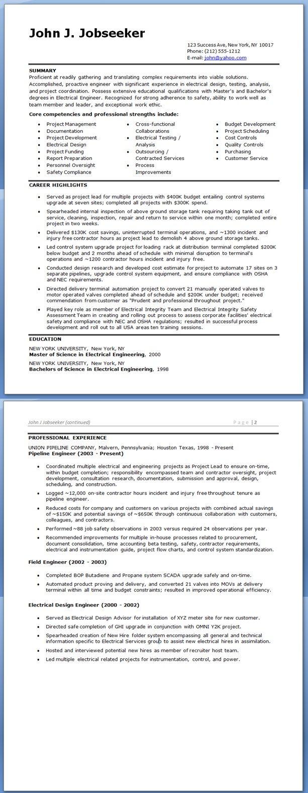 Electrical Engineer Resume Sample Doc Experienced Engineering Resume Electrical Engineering Download Resume