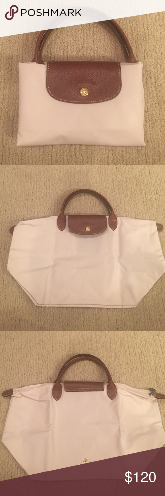 Longchamp Tote *BRAND NEW* Creme colored Longchamp tote. Tags removed, but never used. Longchamp Bags Totes