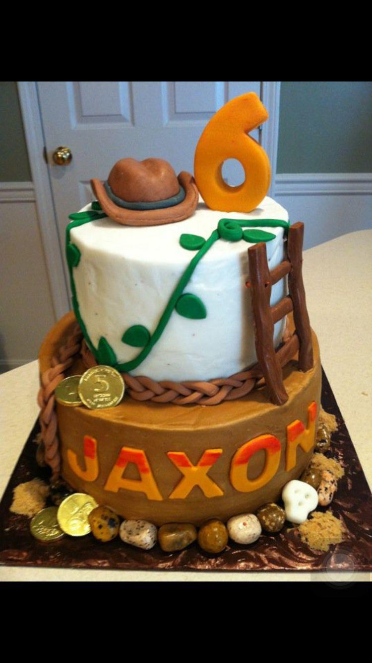 Awesome Indiana Jones Cake Indiana Jones Cake Indiana Jones Birthday Funny Birthday Cards Online Inifodamsfinfo