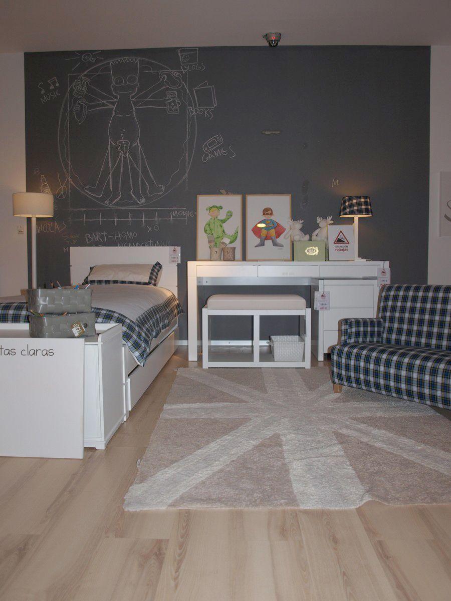 pintura pizarra cuarto color gris graffiti | Habitaciones niños ...