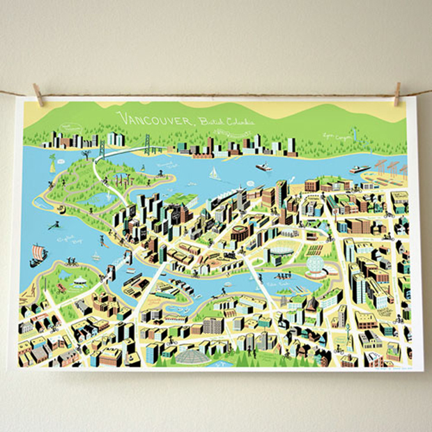 Vancouver Map from Forest Waves Large vancouver special