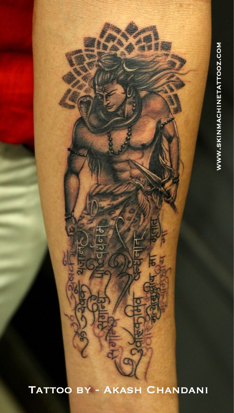 65a5f5b11 Custom Lord Shiva tattoo done by Akash Chandani Thank you Chandan for your  trust , you