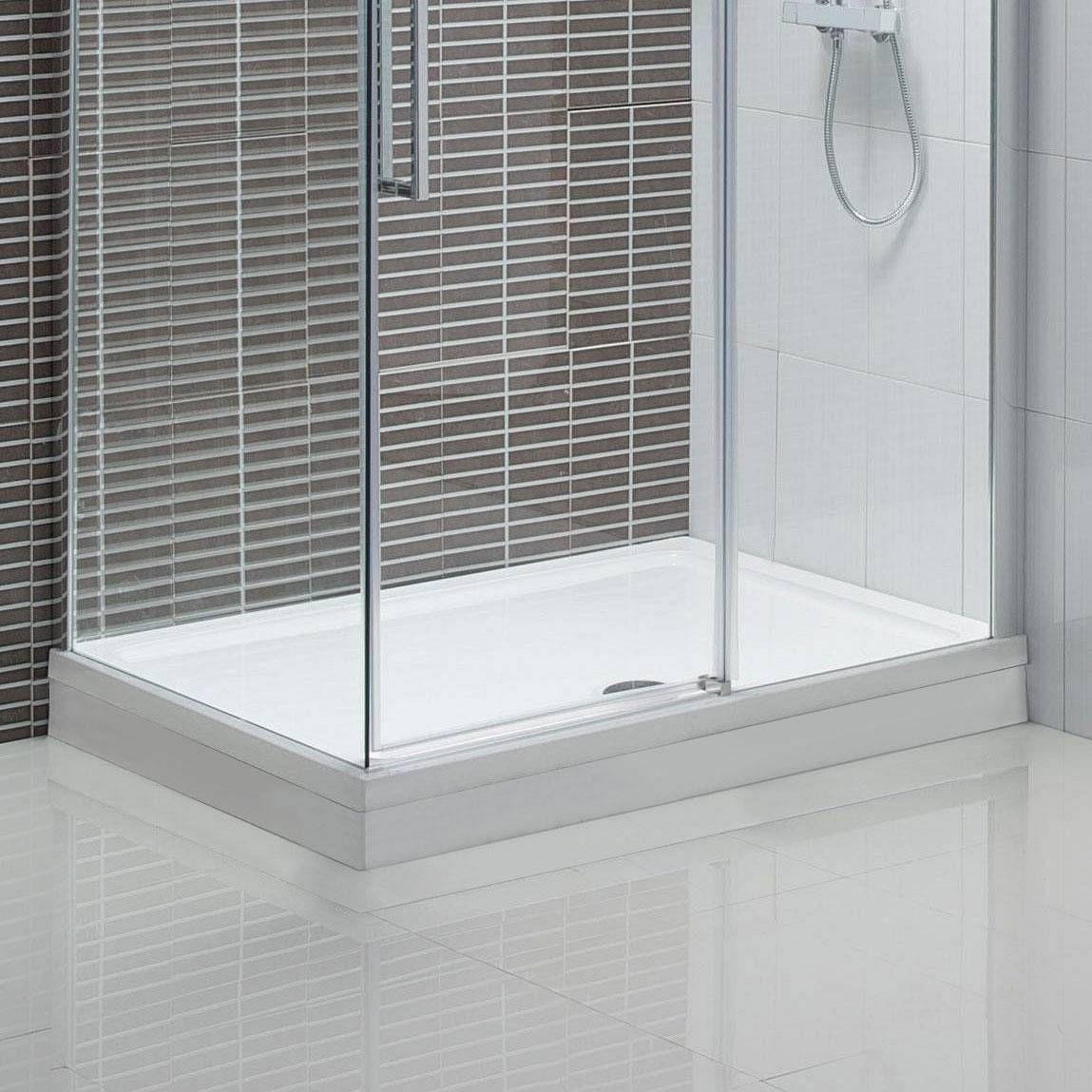 Rectangular Slimline Shower Tray & Riser Kit 1700 x 750   Bathrooms ...
