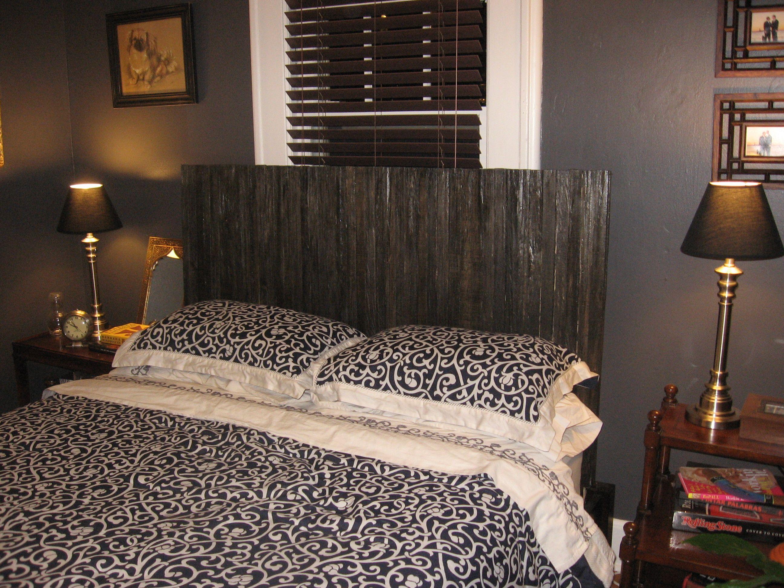 tutorial Home decor bedroom, Pallet headboard diy