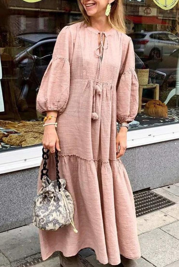 Women S Spring Summer Casual O Neck Loose Long Dress Long Sleeve Maxi Dress Maxi Dress With Sleeves Maxi Dress [ 1108 x 742 Pixel ]