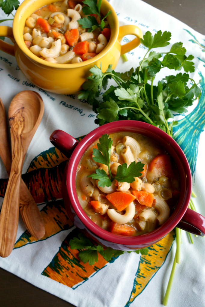 This Chickpea Noodle Soup is just as good as its chicken counterpart, except it's totally vegetarian, fast to whip up, and full of fiber and protein!