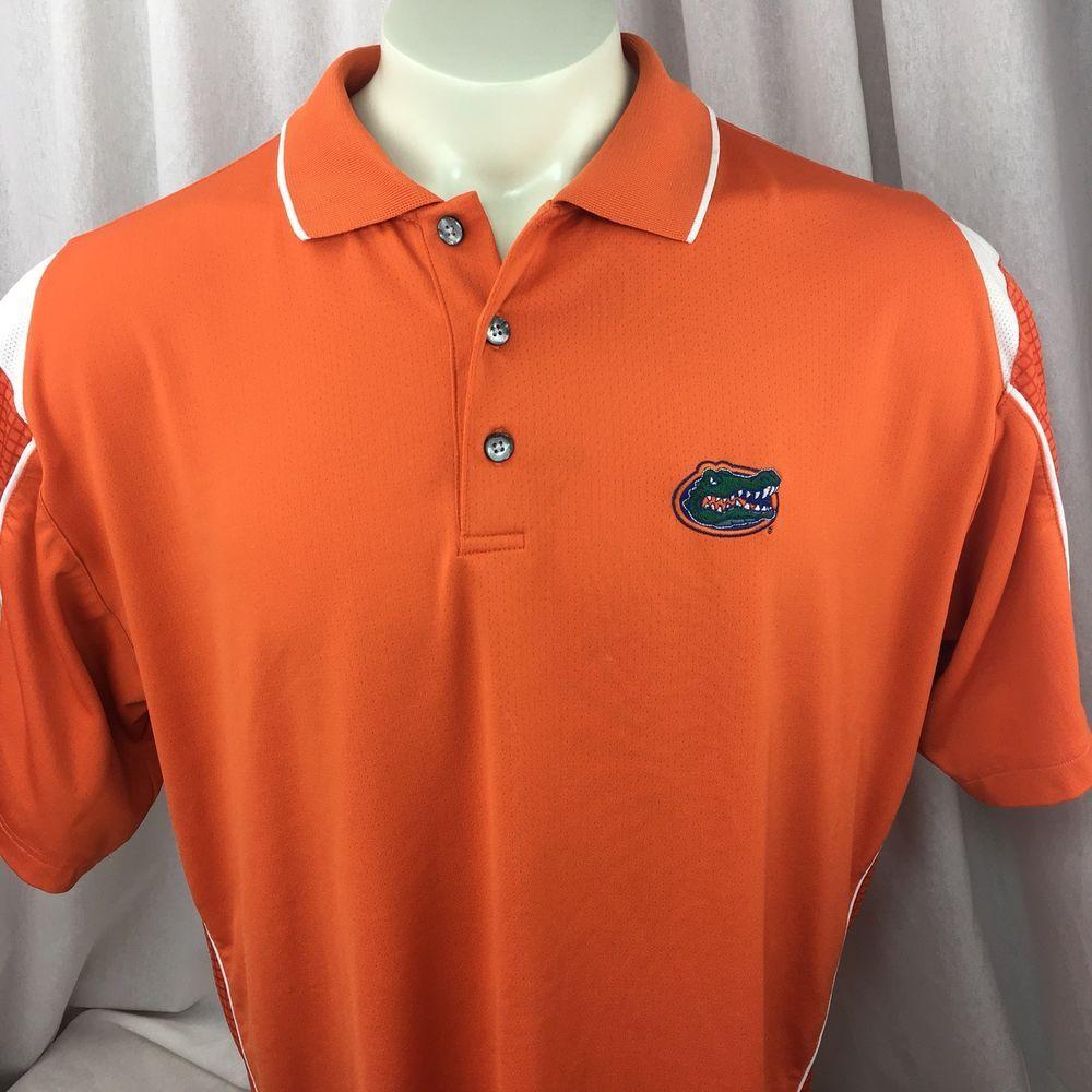 University Of Florida Gators Mens Orange Polyester Polo Shirt Mesh