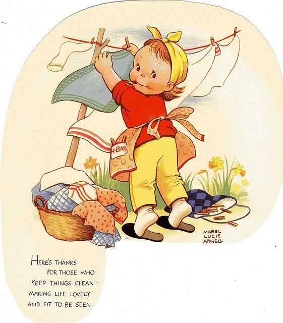 Lavez Jour Vintage Laundry Vintage Illustration Childrens