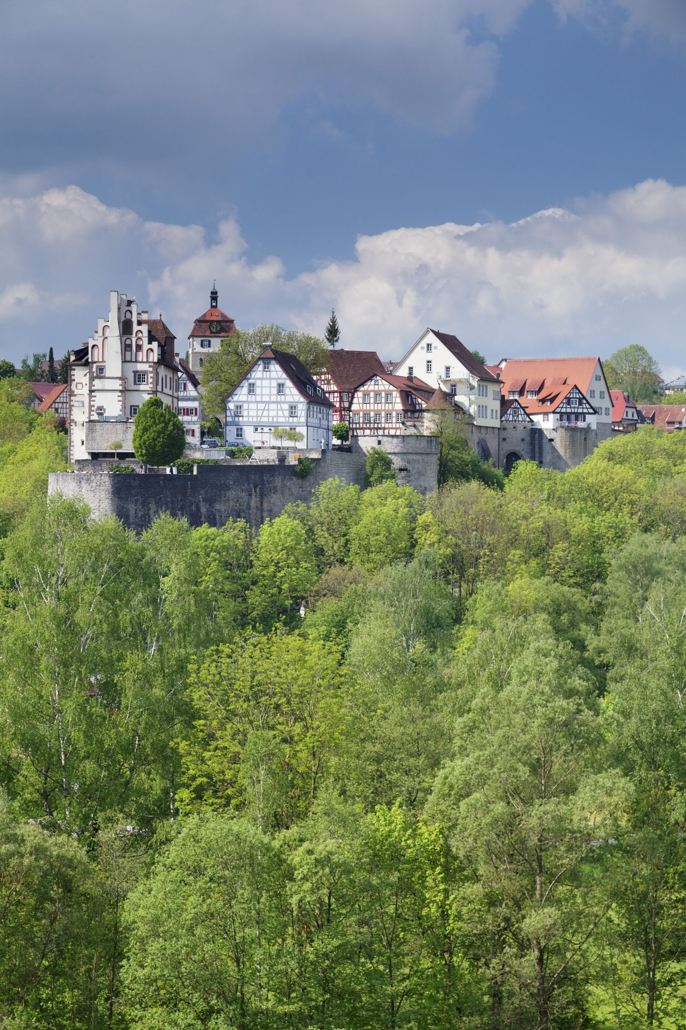 Vellberg Castle With Old Town Vellberg Hohenlohe Region Baden Wurttemberg Germany Europe Germany Old Town