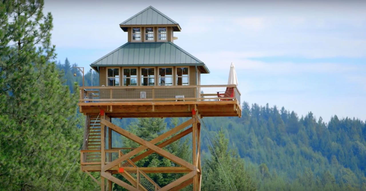 dabney alan s fire lookout tower tiny house living lookout rh pinterest com