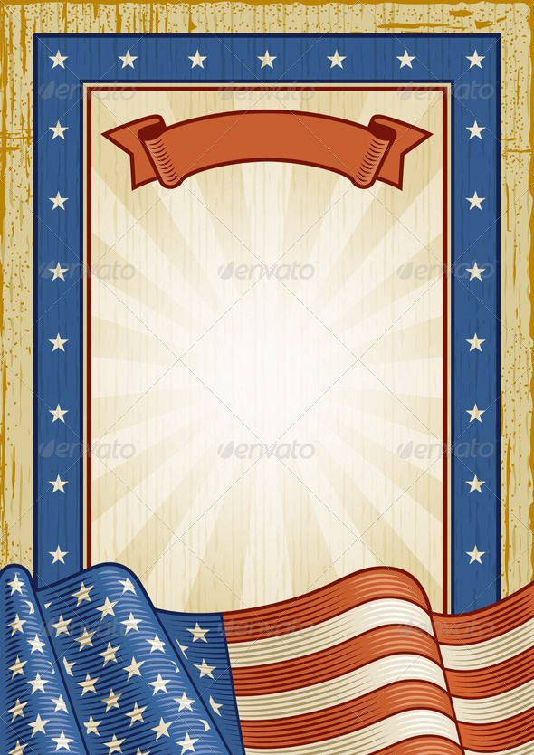 Retro American Frame | Banners, Template and Fonts