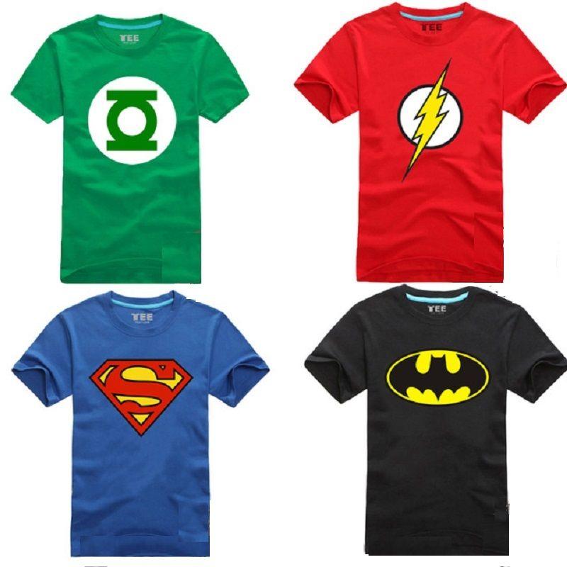 bad33e7a258 Cheap Comic Superhéroe Camiseta Maravilla DC Superman Batman Capitán ...