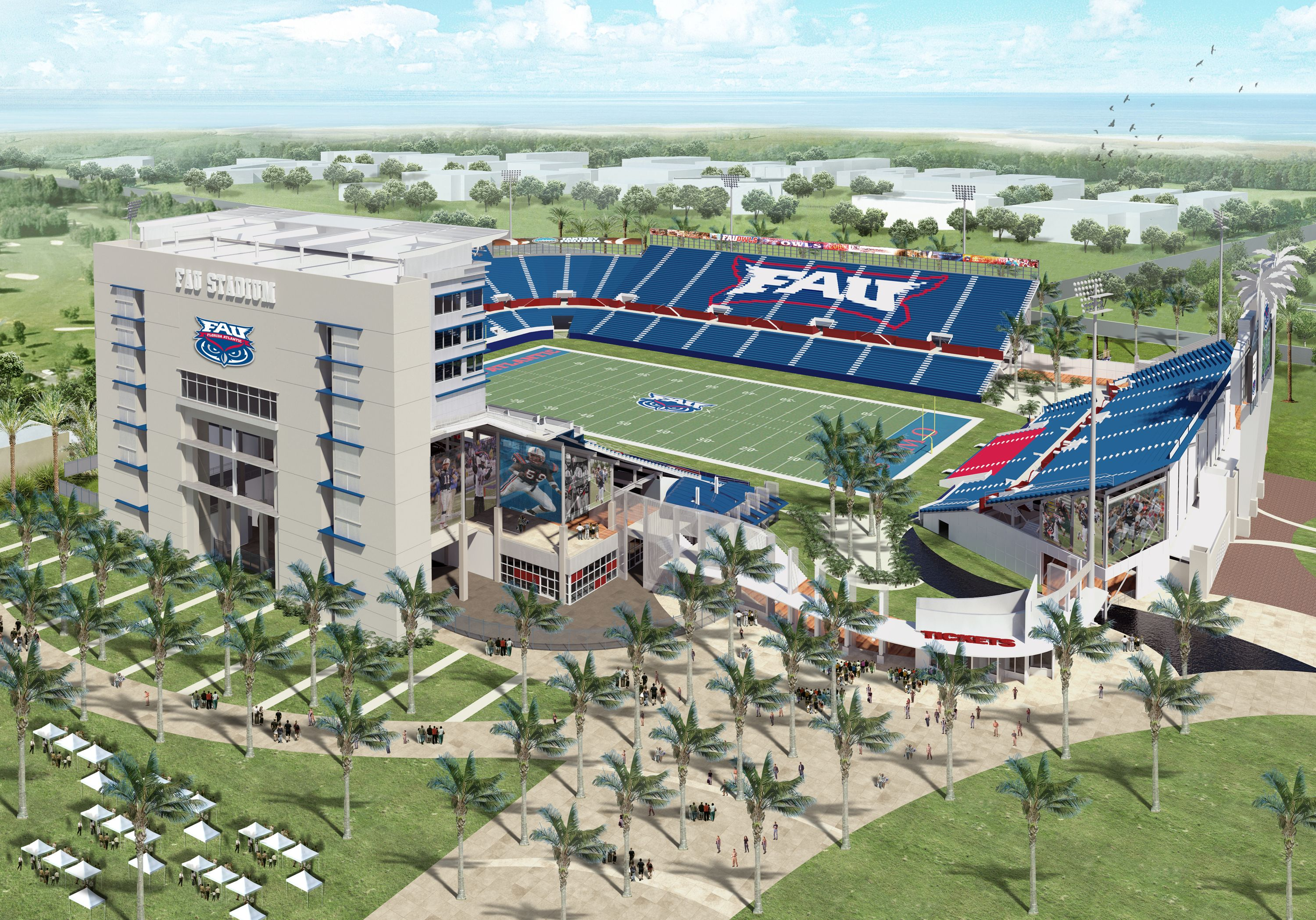 Florida Atlantic Official Athletic Site New Football Stadiums Stadium Western Kentucky University