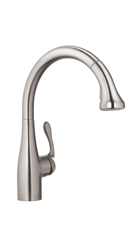 hansgrohe 04066lf allegro e pull down kitchen faucet gourmet with rh pinterest es