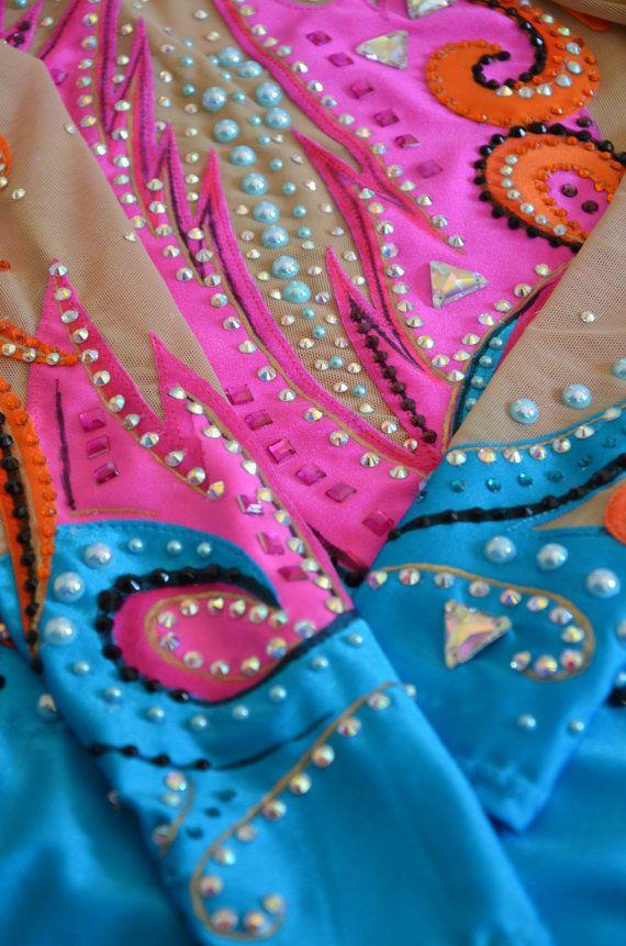 Rhythmic gymnastics leotard baton twirling costume dance   Selber ...