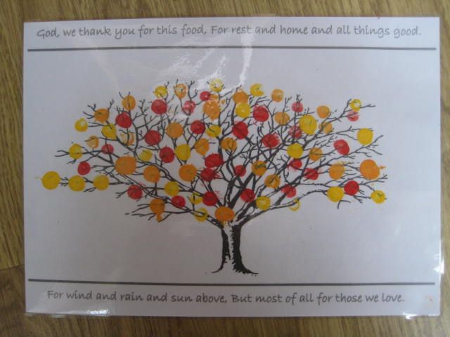 Messy church craft thanks laminated fingerprint tree for Friendship tree template