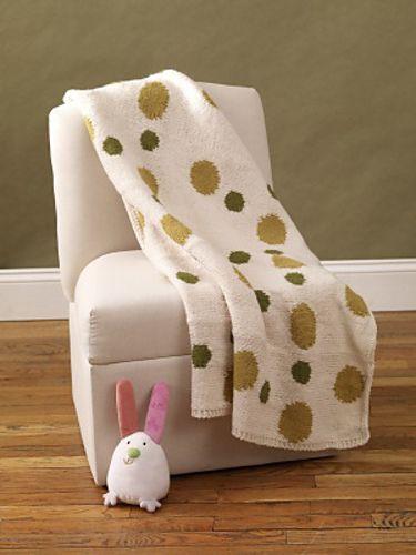Ravelry: Intarsia Polka-Dot Baby Blanket pattern by Lion Brand Yarn