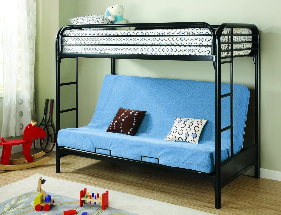 Found it at wayfair elsie twin over futon bunk bed with built in ladder