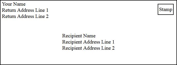 Addressing An Envelope Addressing Envelopes Envelope Format Envelope Addressing Template