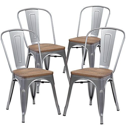 kerland metal dining chairs set of 4 indoor outdoor chairs rh pinterest com