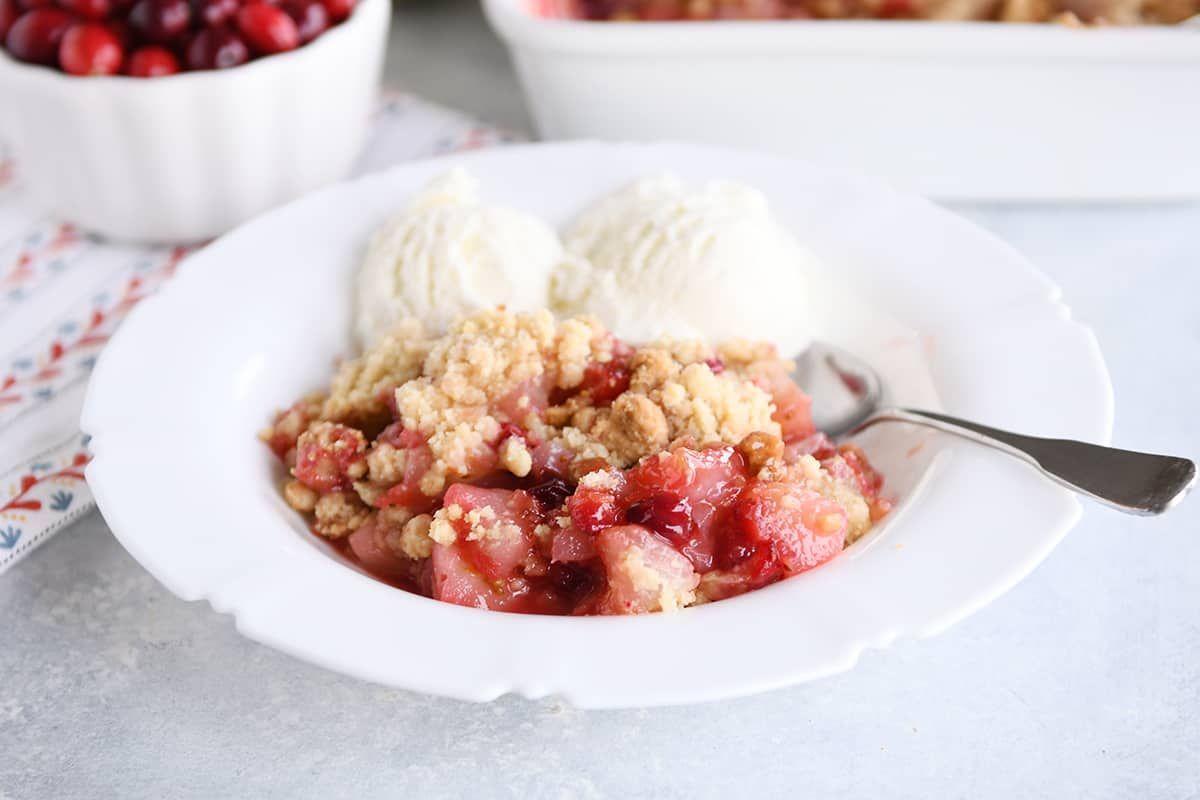 Cranberry pear crumble recipe fruit crumble