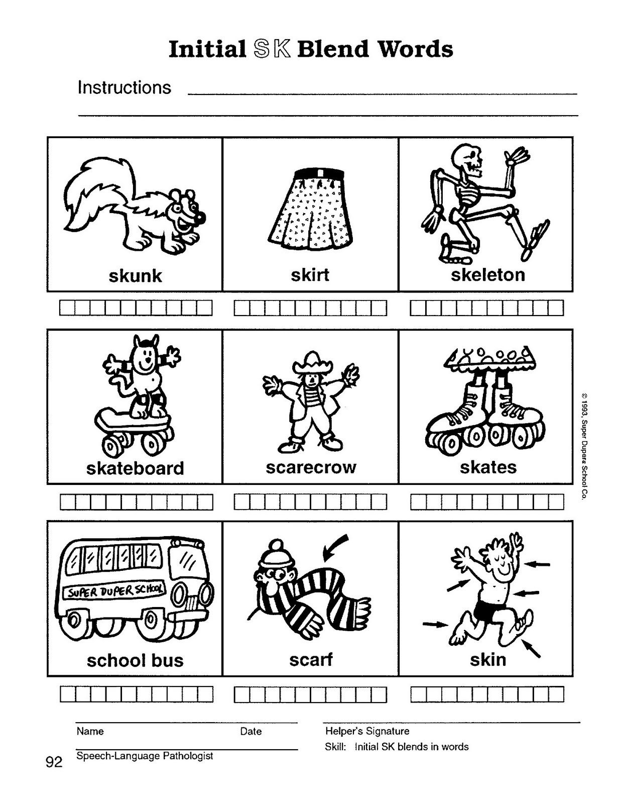 Speech Therapy With Miss Nicole S Blend Words Blend Words Blends Worksheets School Speech Therapy [ 1600 x 1237 Pixel ]