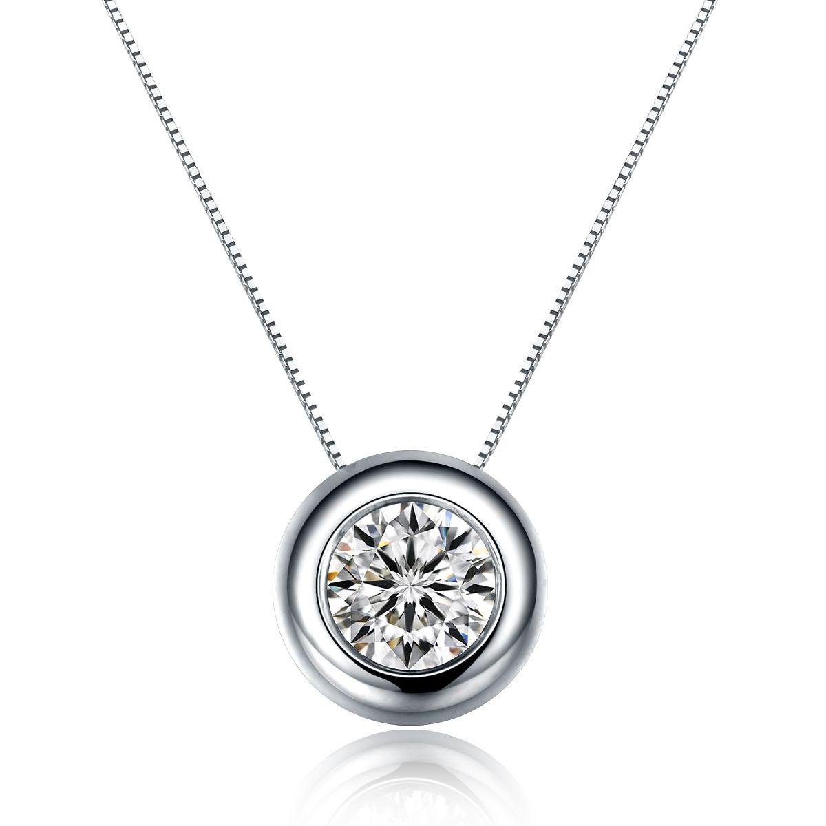 17 best examples of single diamond necklace aloadofball Choice Image