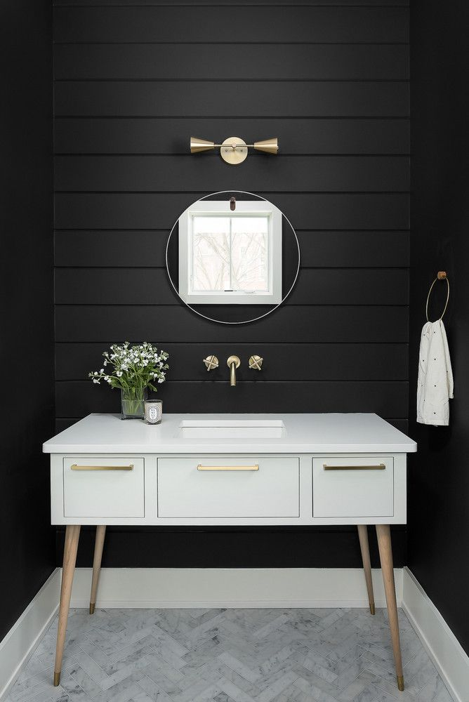 black and white bathroom Weu0027d Call This