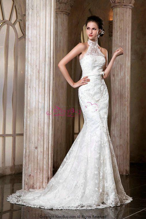 lace turtleneck wedding dress - Google Search | The Bride ...