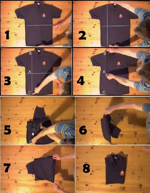 How To Fold A T Shirt In Less Than Two Seconds T Shirt Folding
