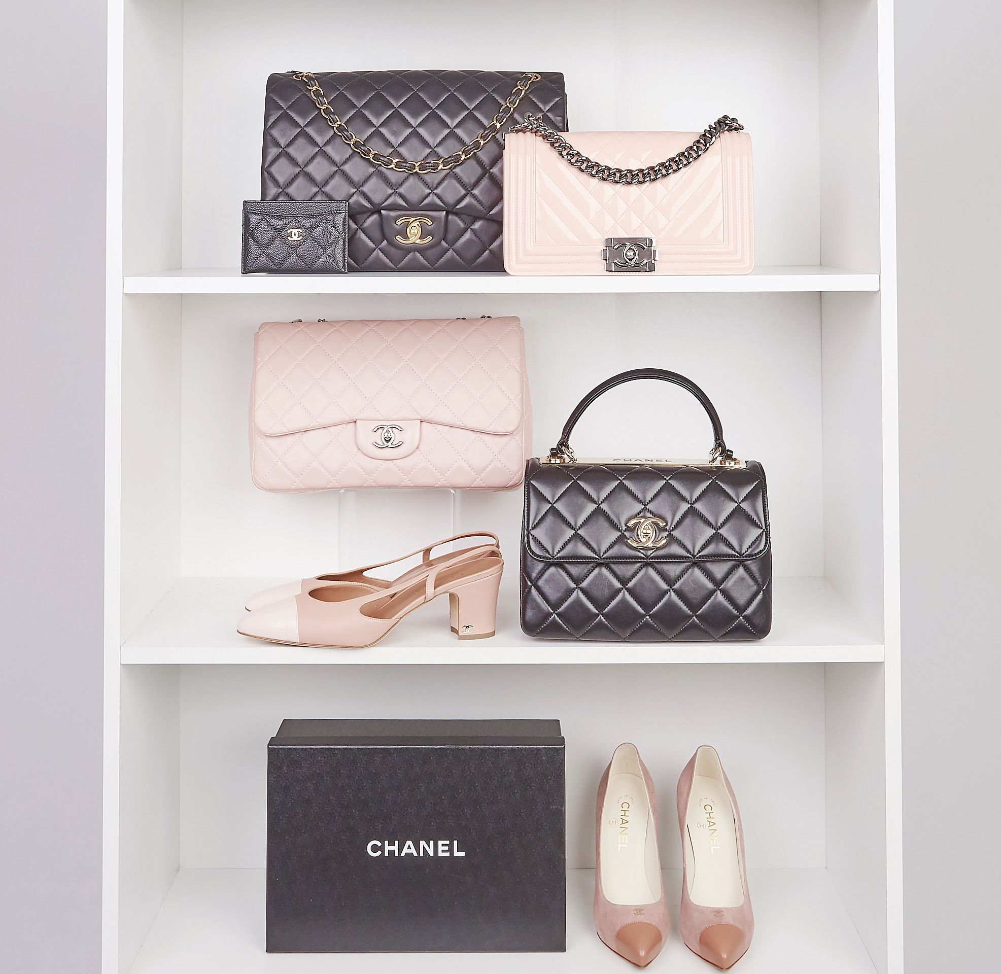 Chanel Shelfie Goals Chanel Chanelclassic Chanelflapbag Chaneltrendy Chanelshoes Shoes Chanelwallet Chanel Flap Bag Luxury Accessories Luxury Items