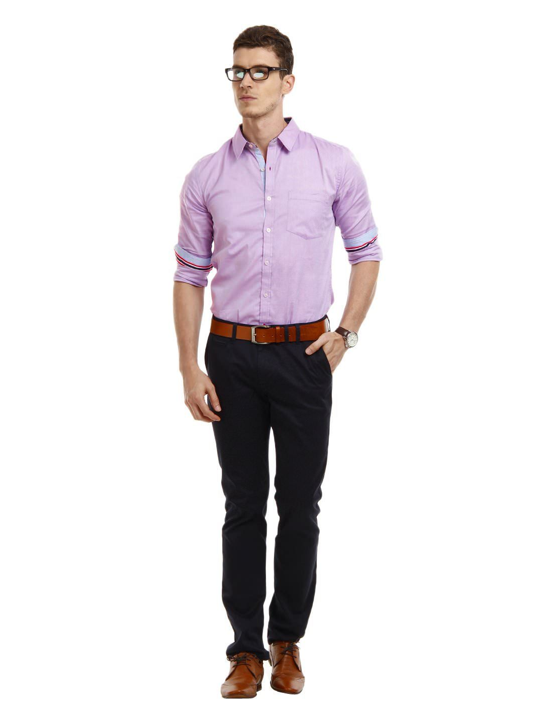Mast,Harbour,Men,Lavender,Marigold,Slim,Fit,Smart, · Casual Work  OutfitsOutfits