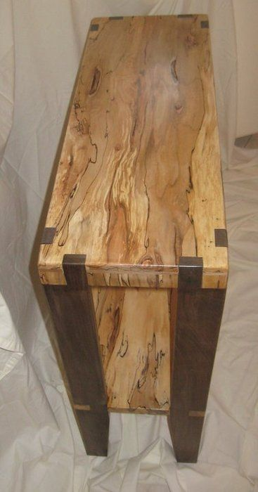 sofa table spalted maple and walnut woodworking maple furniture rh pinterest com