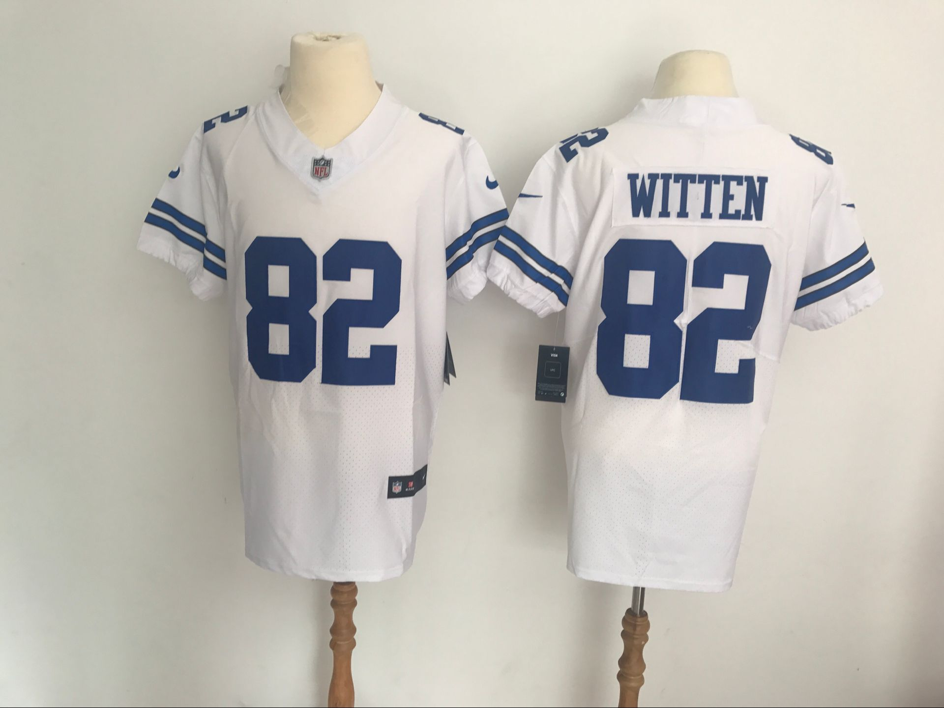 Men s Dallas Cowboys  82 Jason Witten Nike White Vapor Untouchable Elite  Jersey ec6cd8903
