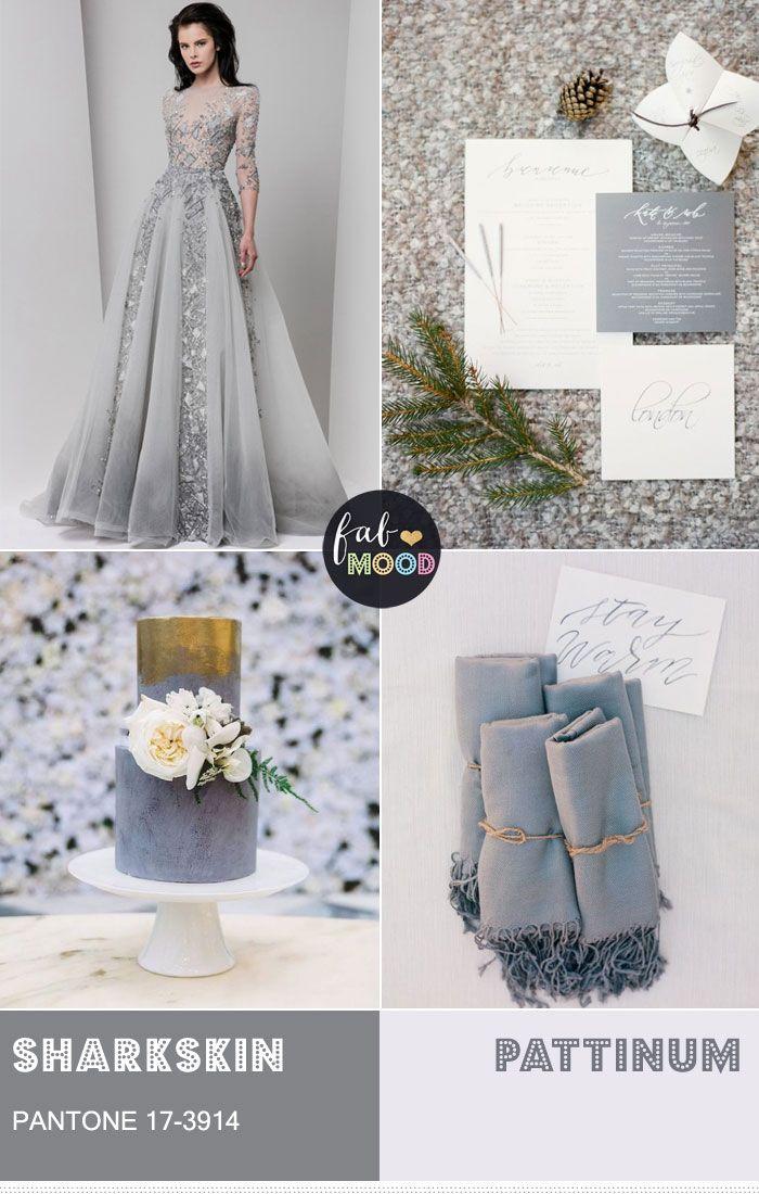 Pantone Fall 2016 Sharkskin Wedding Colour Theme Wedding Color