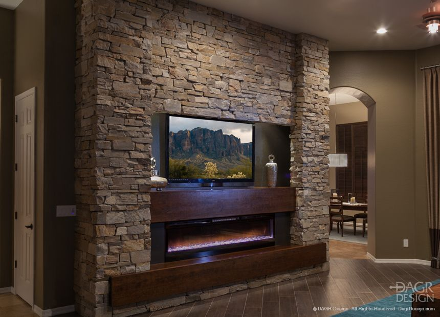 contemporary entertainment center design with natural stacked stone rh pinterest com