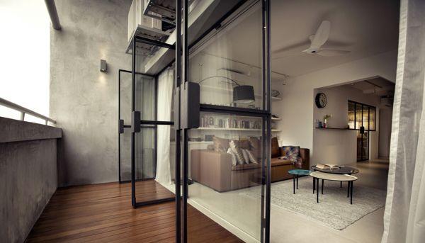 G Maisonette Singapore By 0932 Design Consultants Via Behance Interior Design Singapore Home Balcony Design