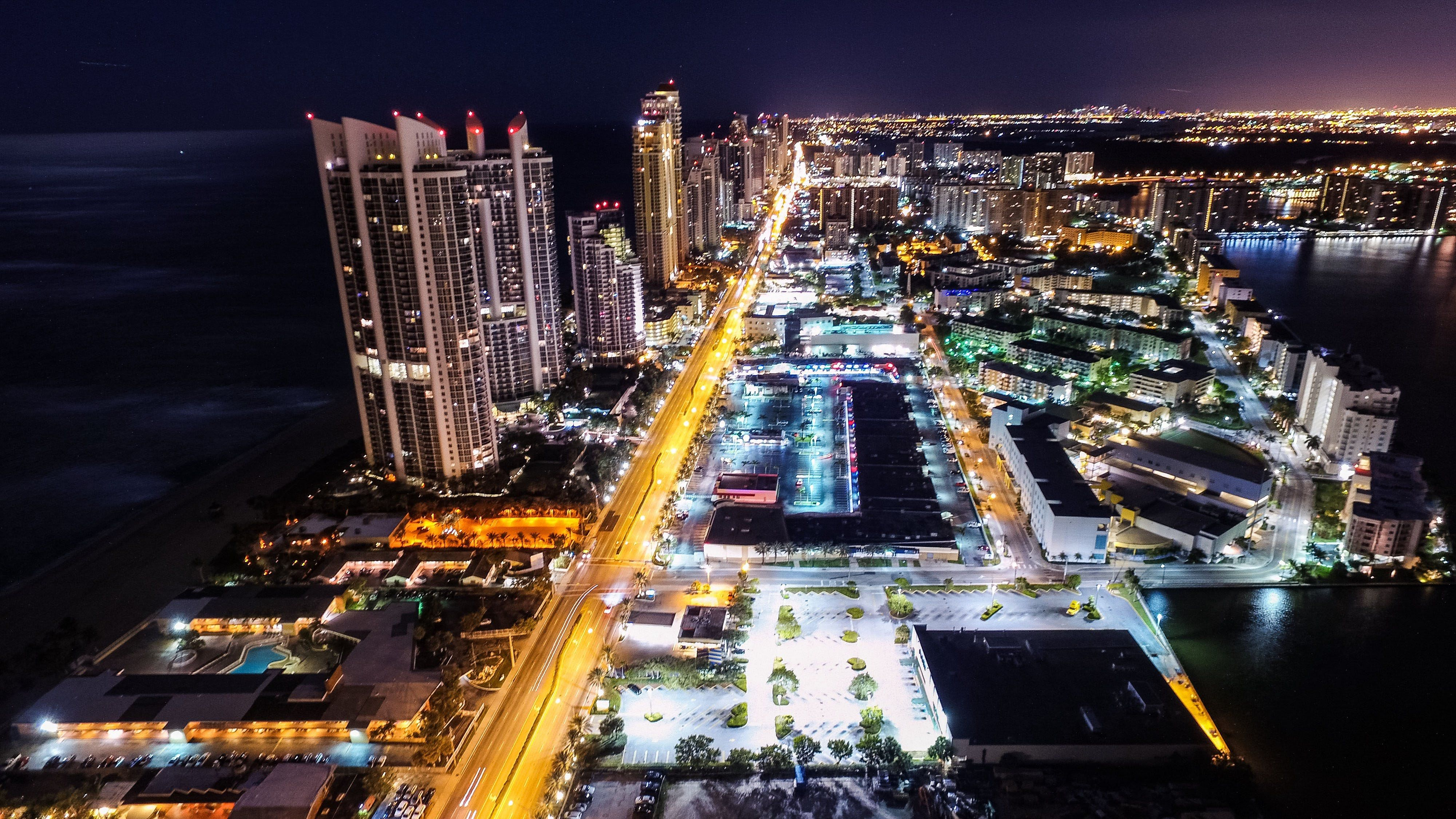 Aerial Photography Of Sunny Isles Beach In 4kNight