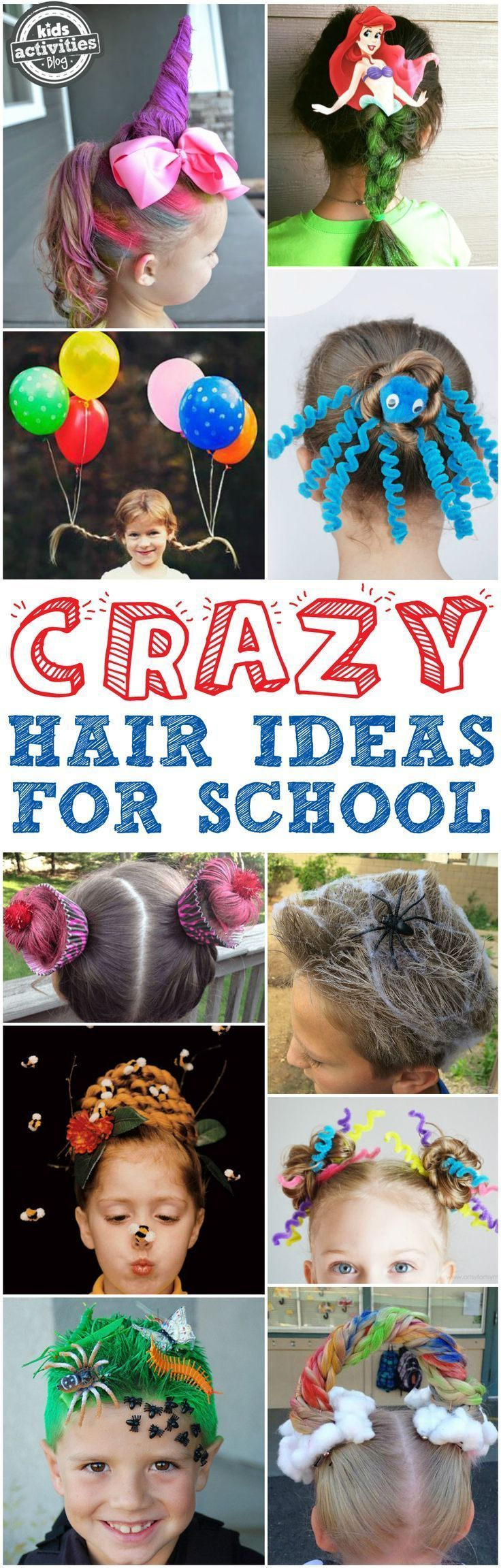 crazy hair day ideas for school | crazy hair, grasses and unicorns