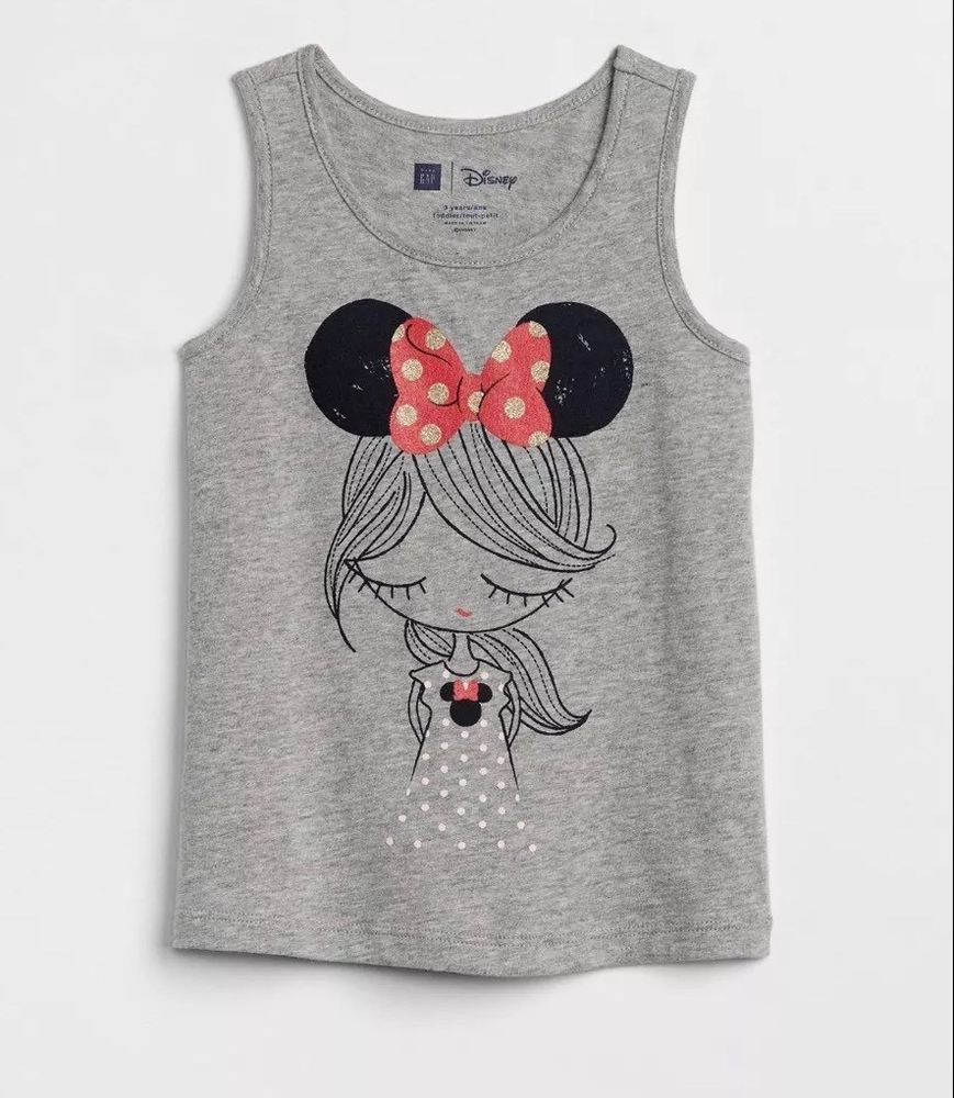 NWT Baby Gap Girls Disney Minnie Mouse Mickey Mouse Tank