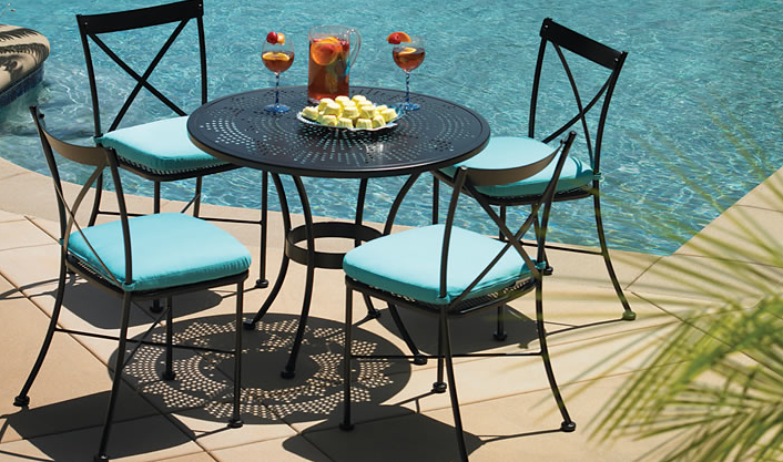 bistro outdoor dining table poolside by o w lee outdoor patio rh pinterest com
